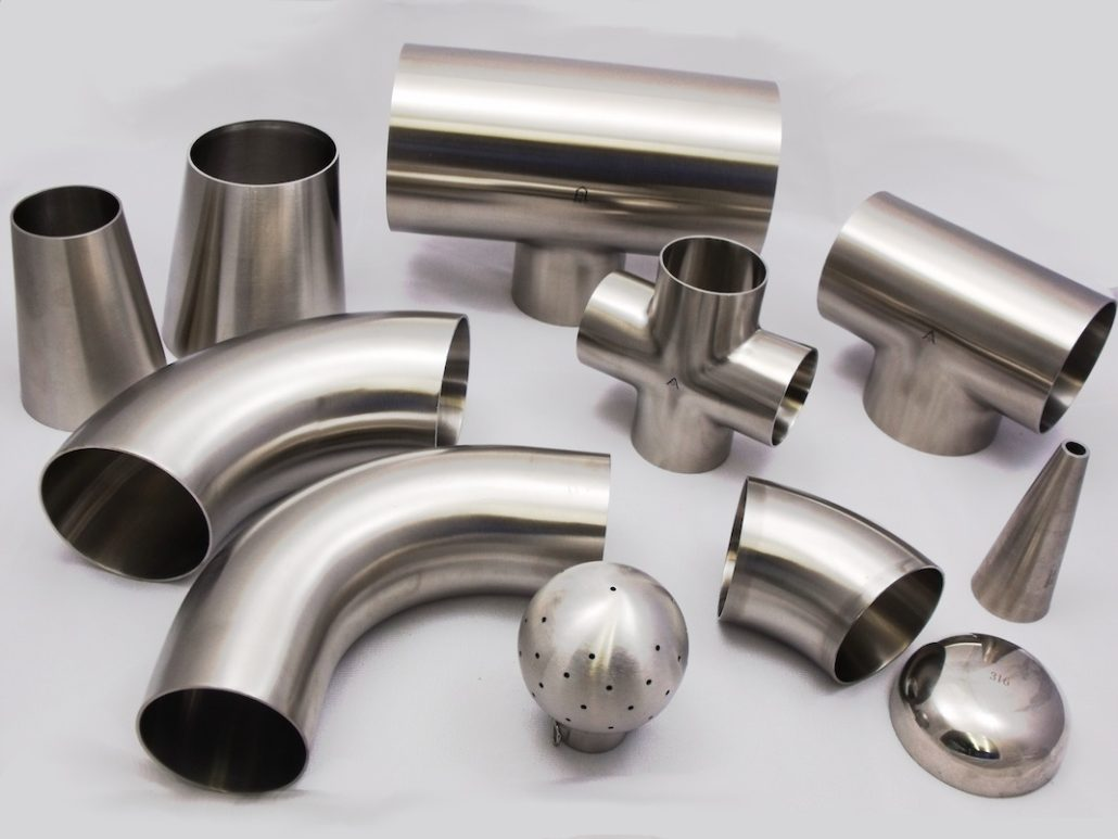 Hygienic dairy tube fittings flanges and accessories